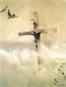 Krzyż w zadymce, J. Chełmoński