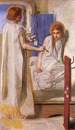 Zwiastowanie (Ecce Ancilla Domini), D. G. Rossetti